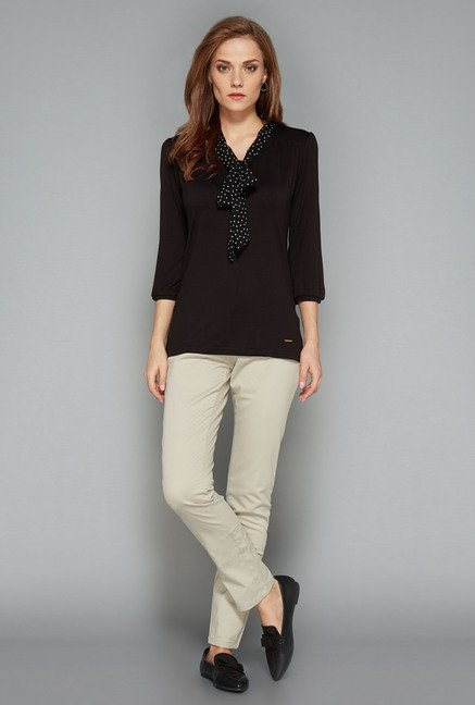 Wardrobe Black Solid Top