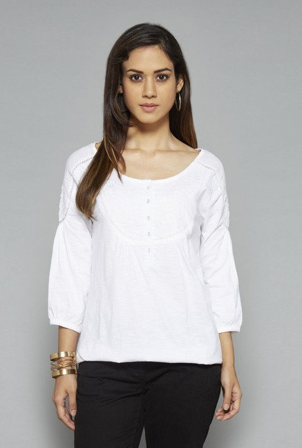 L.O.V White Solid Top