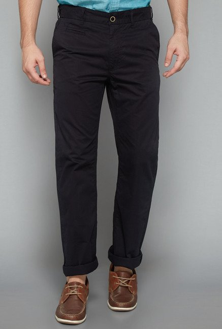 Westsport Mens Black Solid Trouser