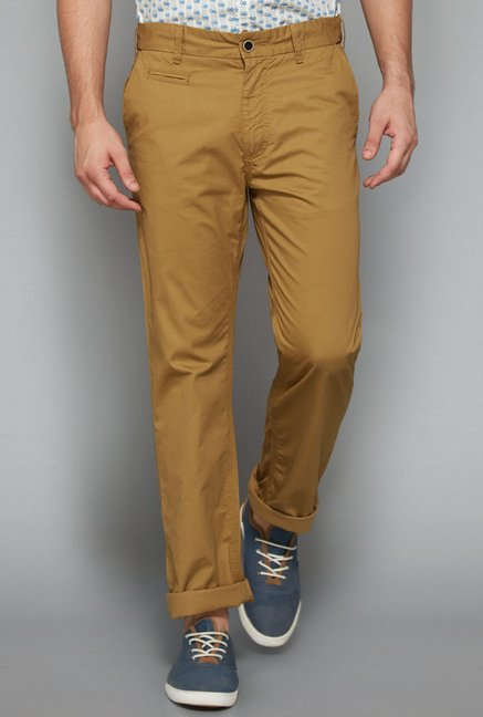 Westsport Mens Tan Solid Trouser