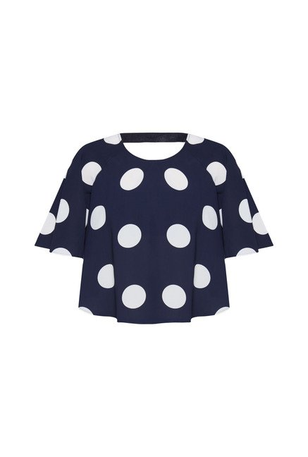 Nuon by Westside Navy Polka Dot Crop Top