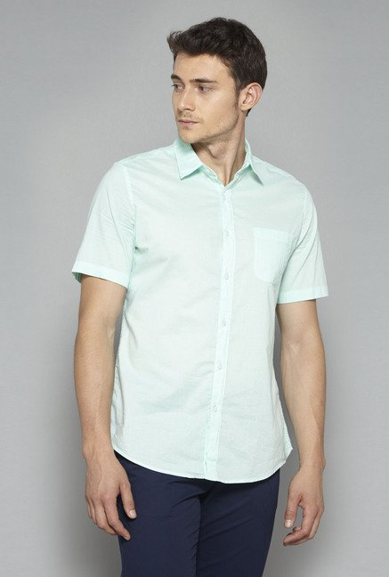 Westsport Mens Mint Solid Casual Shirt