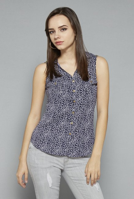 Nuon by Westside Navy Printed Top