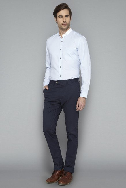 Ascot Blue Slim Fit Casual Shirt