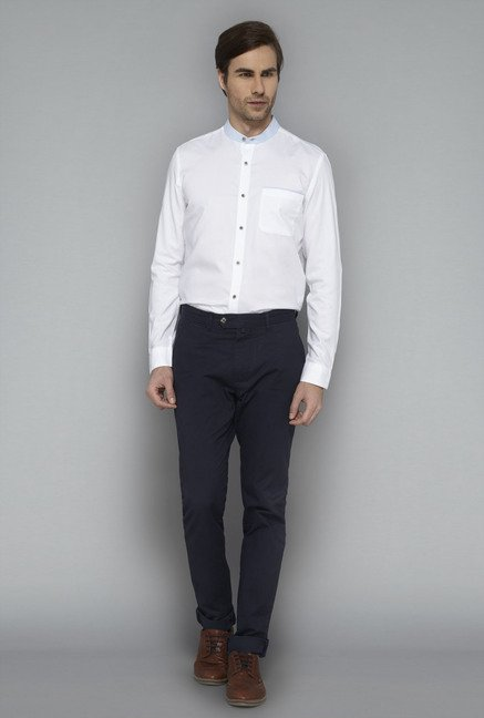 Ascot White Slim Fit Casual Shirt