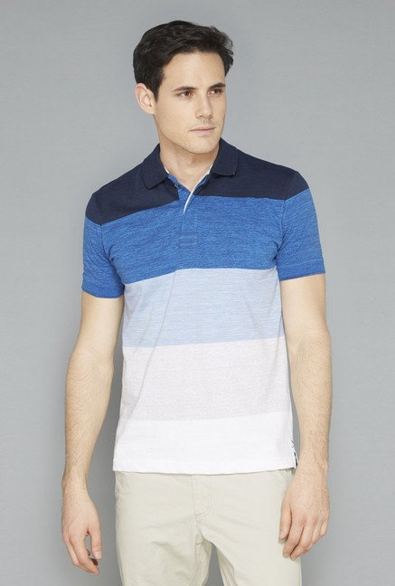 Westsport Mens Multicolor Striped T-Shirt