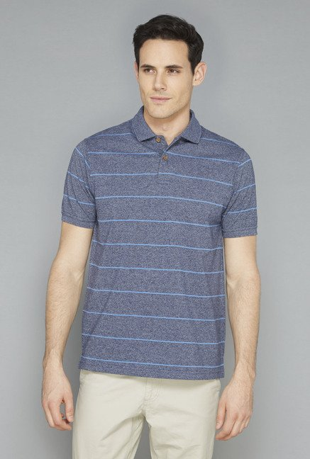 Westsport Mens Indigo Striped T-Shirt