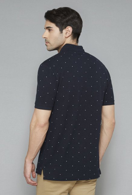 Ascot Navy Polka Dot T-Shirt