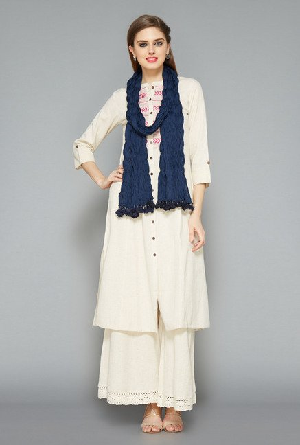 Utsa Navy Crushed Dupatta