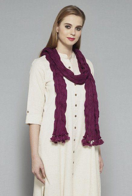 Utsa Purple Crushed Dupatta