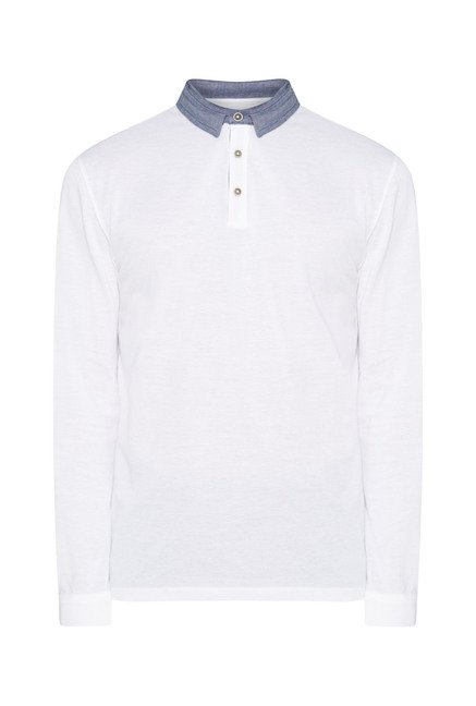 Ascot White Solid T-Shirt
