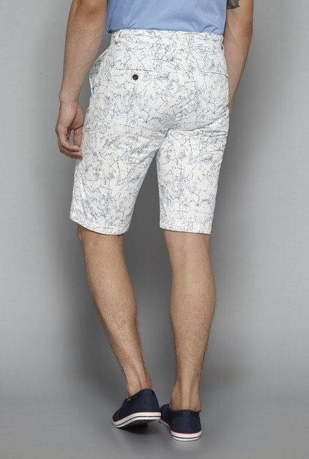 Nuon by Westside White Printed Shorts