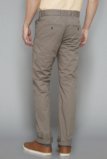 Westsport Mens Grey Solid Trouser