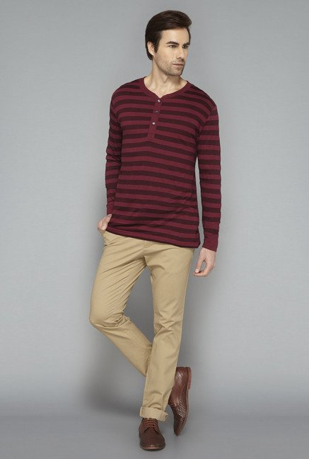 Ascot Wine Striped T-Shirt