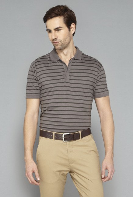 Ascot Dark Grey Striped T-Shirt