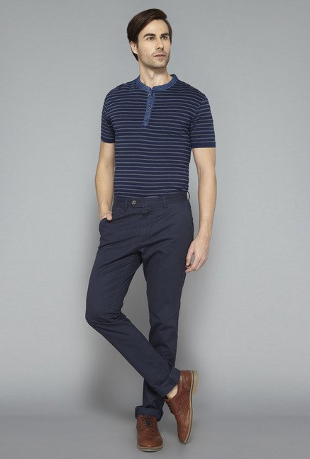 Ascot Indigo Striped T-Shirt