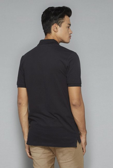 Nuon by Westside Black Solid T-Shirt
