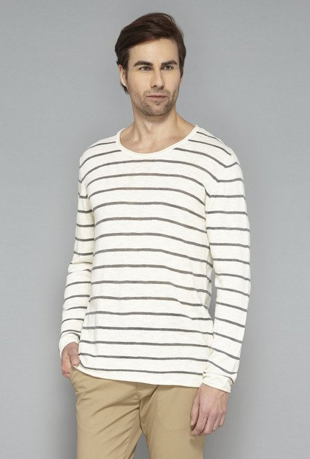 Ascot Off-White Striped T-Shirt