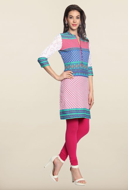 Soch Multicolor Printed Cotton Kurti