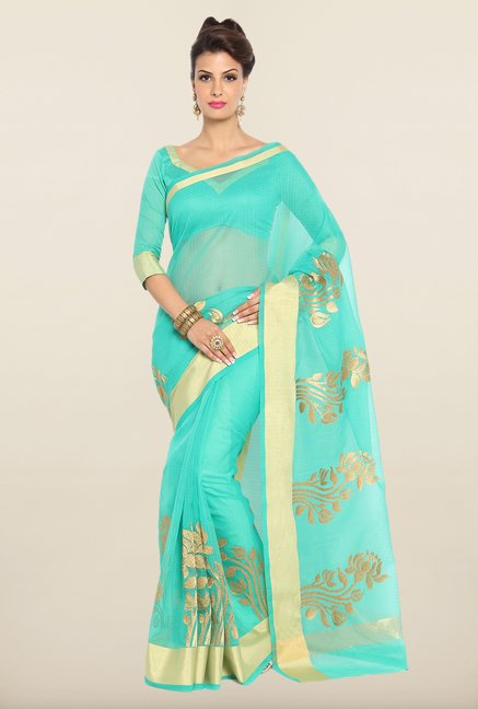 Soch Teal & Golden Kota Saree