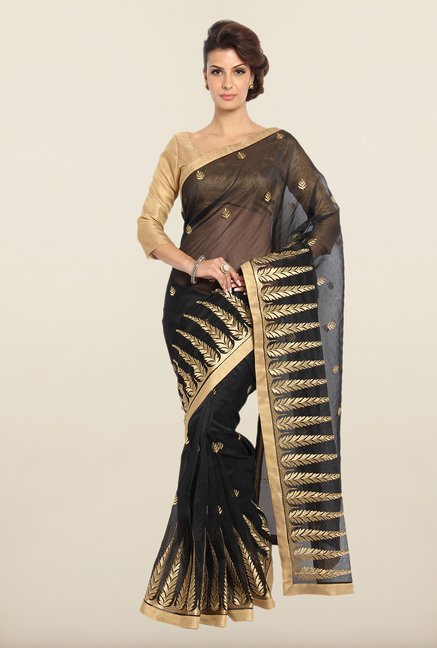 Soch Black & Golden Kota Saree