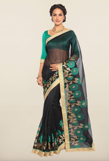Soch Black & Geen Kota Saree