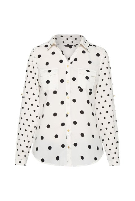 Wardrobe Off-White Polka Dot Top