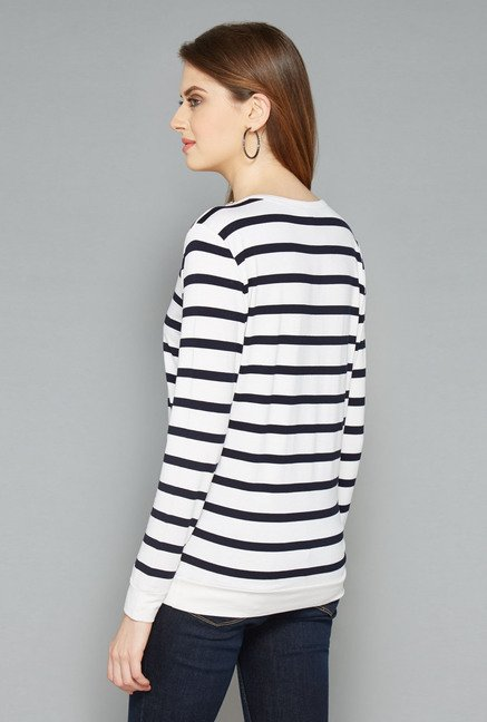 L.O.V White Striped T-shirt