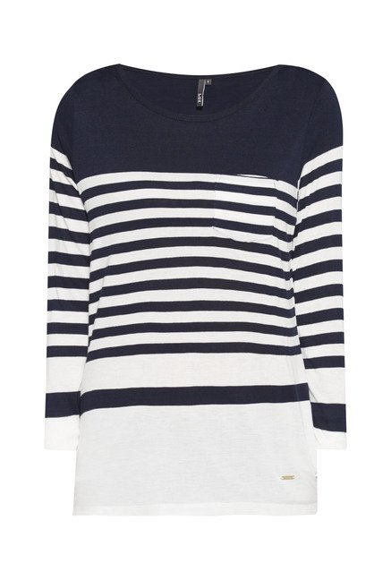 L.O.V Navy Striped Top