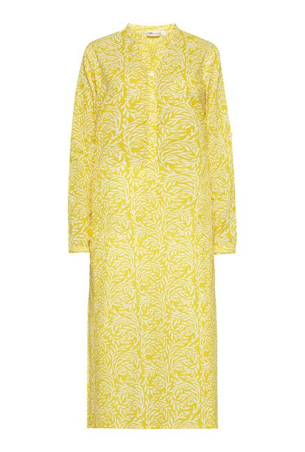 Utsa Yellow Printed Long Kurta