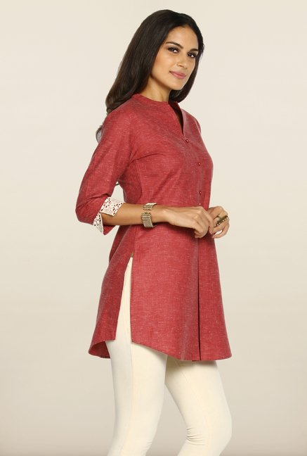 Soch Brick Red Printed Tunic
