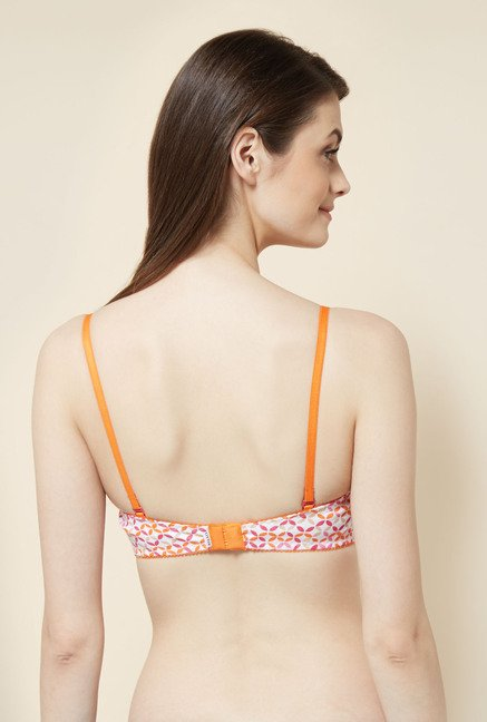 Little Lacy Orange Printed Bra