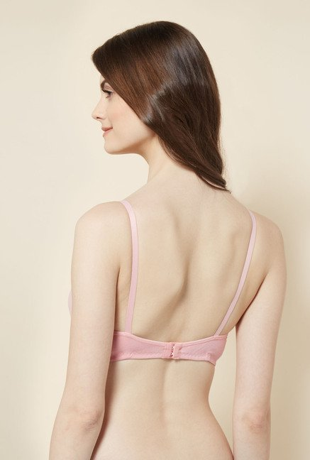 Little Lacy Extralife Pink Solid Bra