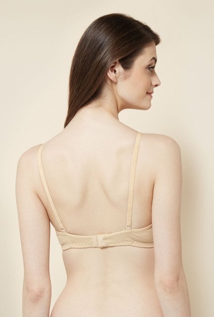 Little Lacy Extralife Beige Solid Bra
