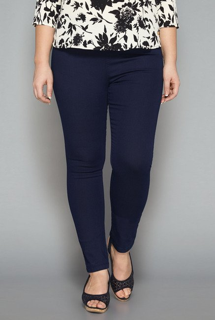 Gia Dark Blue Solid Jeggings