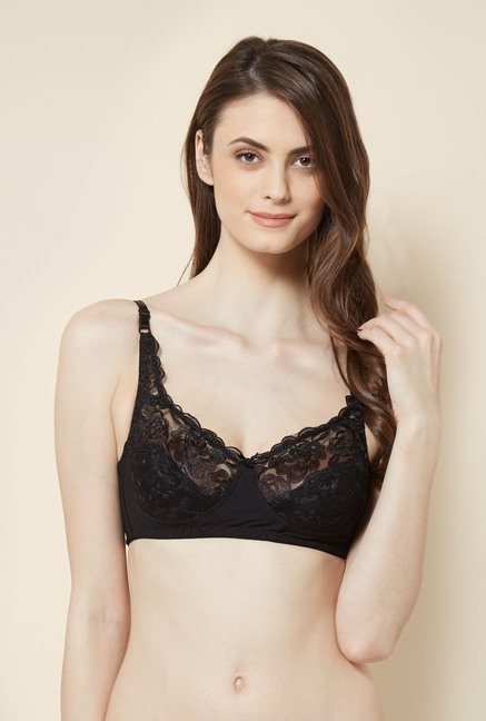 Little Lacy Black Embroidered Bra
