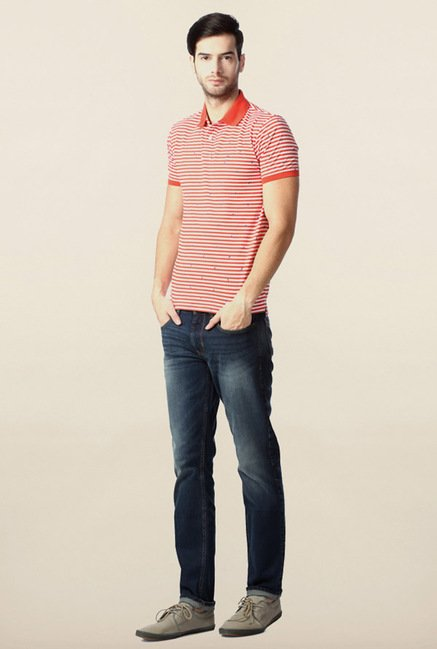 Peter England Red Polo T-Shirt