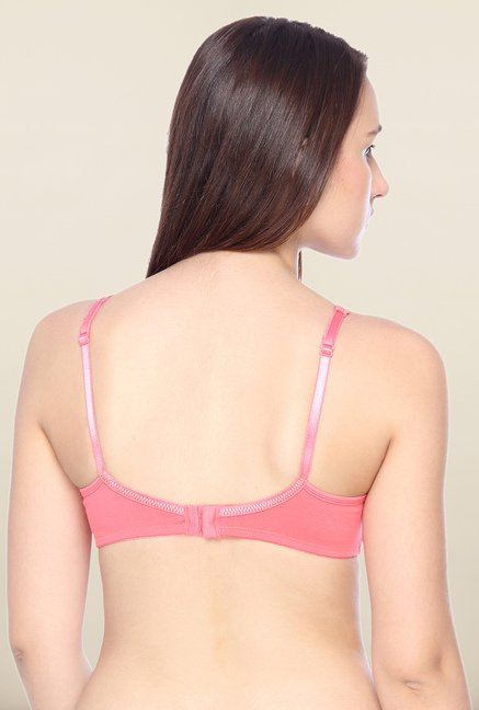 Lovable Coral Pink Non-Wired Seamless Bra