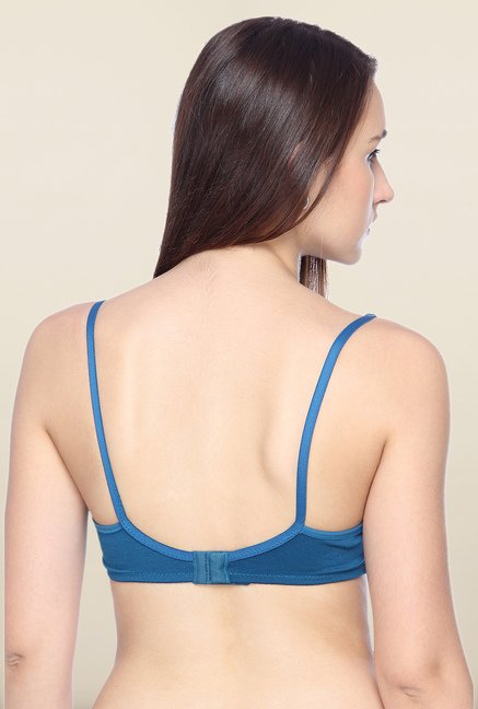 Lovable Blue Non-Padded Plunge Bra