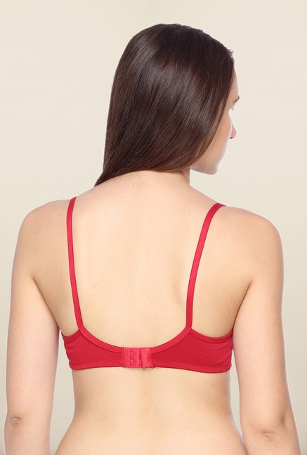 Lovable Red Non-Padded Plunge Bra