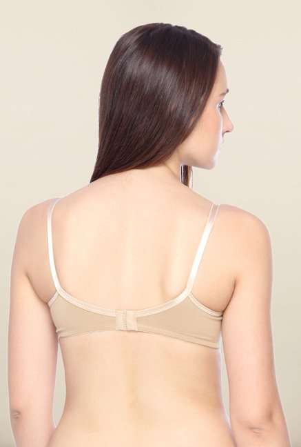 Lovable Beige Full Coverage Plunge Bra