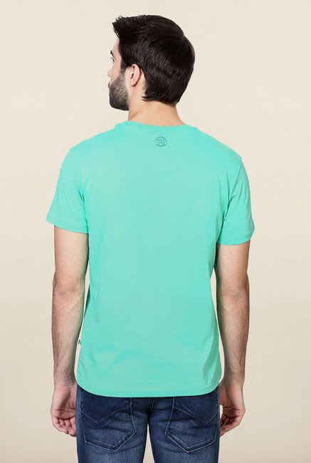 Allen Solly Turquoise Printed T-Shirt