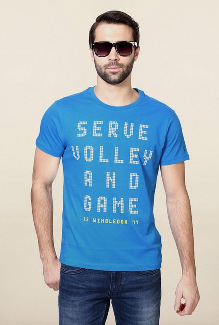 Allen Solly Blue Graphic Printed T-Shirt