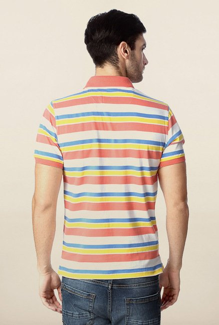 Peter England Multicolor Polo Short Sleeves T-Shirt