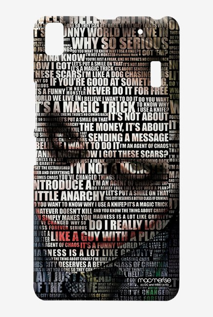 Macmerise Joker Quotes Sublime Case for Lenovo K3 Note