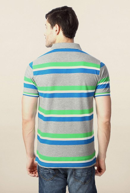 Peter England Multicolor Polo Striped T-Shirt