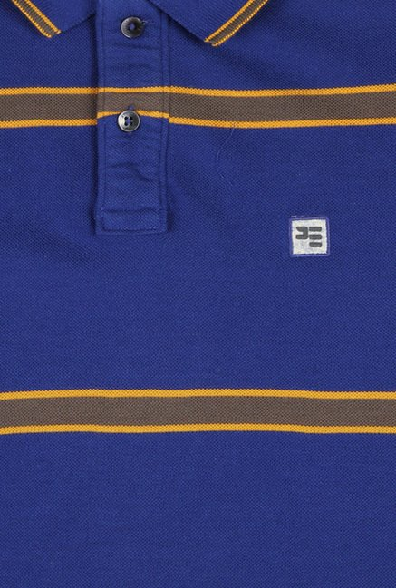 Peter England Blue Polo T-Shirt