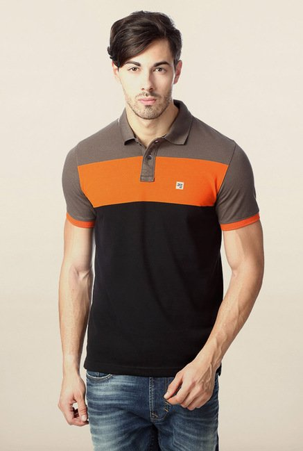 Peter England Multicolor Solid Polo T-Shirt