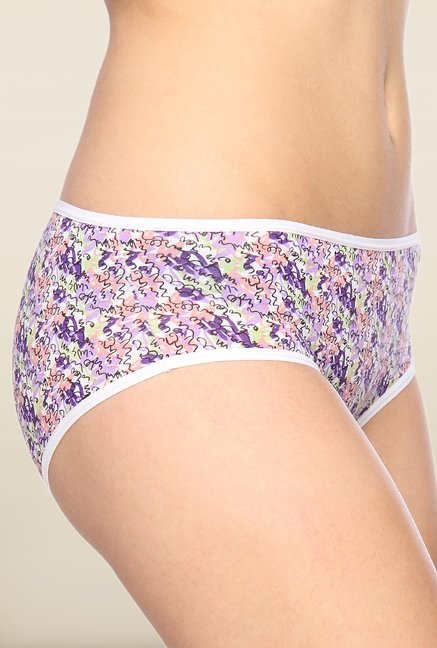 Lovable Purple Printed Briefs (Pack of 3)