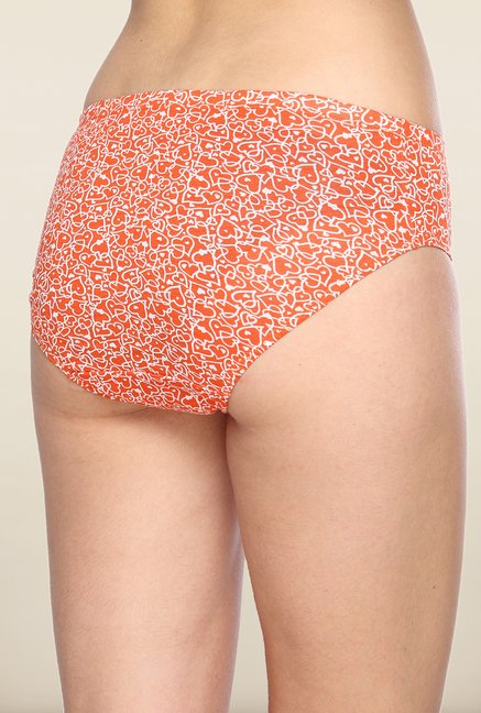 Lovable Orange Heart Printed Briefs (Pack of 3)